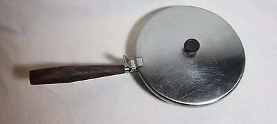 Vintage Silent Butler Crumb Catcher Dolphin Japan Stainless Steel Wood Handles
