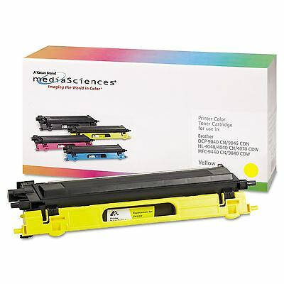 Media Sciences 39410 39410 Remanufactured TN115Y High-Yield Toner Yellow
