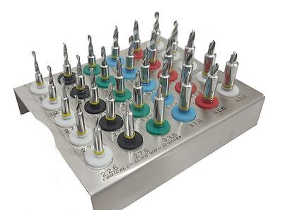 Dental Implant Conical Drills Kit with Stopper Set of 30 PCs/ Implant Kit