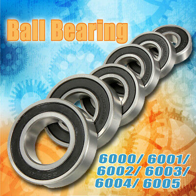 6 Sizes Metal Deep Groove Sealed Shielded Ball Bearing Miniature 6000-6005/2RS
