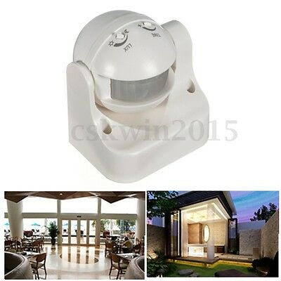 Outdoor 180 Degree PIR Motion Movement Security Sensor Detector Switch 12 Meter