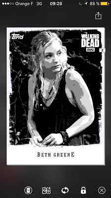 Topps the walking dead Illustrated Black and white special Beth