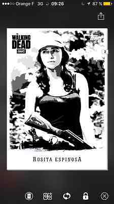 Topps the walking dead illustrated B&W special Rosita
