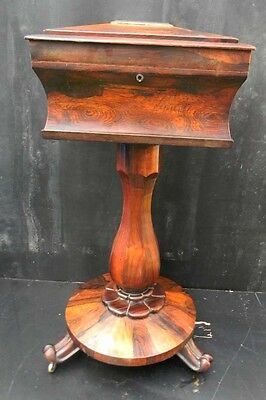 teapoy rosewood circa 1830's quality un surpassed, with free worldwide post.