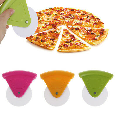 Plastic Pizza Dough Cutter Wheel Tools Multifunctional Round Blade Slicer