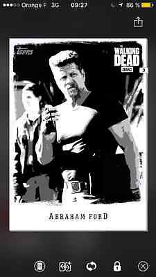 Topps the walking dead Illustrated B&W special Abraham