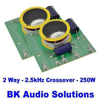 Pair of QTX 2 Way Crossover 12dB Bass. 6dB Top. 250Watt Loudspeaker 900.590