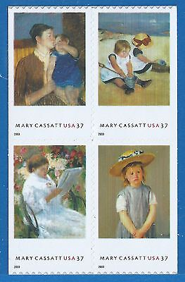 Mary Cassatt Paintings - SC# 3807a - MNH - Booklet Block of Four