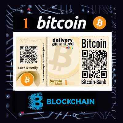 1.0 Bitcoin Gift Certificate Free International Delivery BTC Cryptocurrency