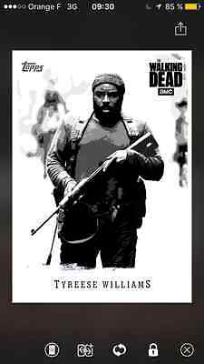 Topps the walking dead Illustrated B&W special Tyresse