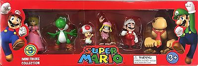 Nintendo Super Mario 6 Pack Mini Figure Collection Series 3 Toy Gift