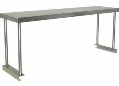 Commercial Kitchen Stainless Steel Single Over Shelf For Prep Tables 1200mm
