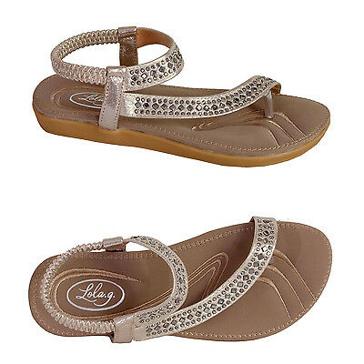 Superior Comfort Sandals- Rose Gold Metallic Thong Style. Size 37 - 43 (6 -12)