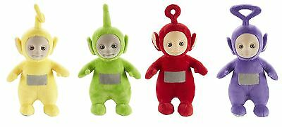 Set of 4 Teletubbies 26cm Talking Po & Laa-Laa & Dipsy & Tinky Winky Soft Plush