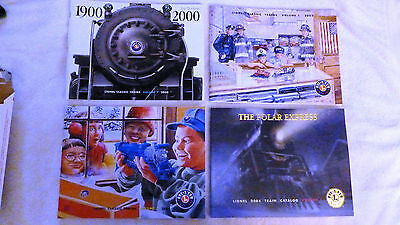 LOT OF 4 LIONEL CATALOGS from 2000, 2001, 2002, and 2004