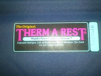 Thermarest Camping Mattress. Very Comfortable and Compact. VGC