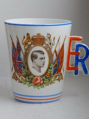 Unusual Edward 8th royal commemorative ware cup/beaker with ER handle