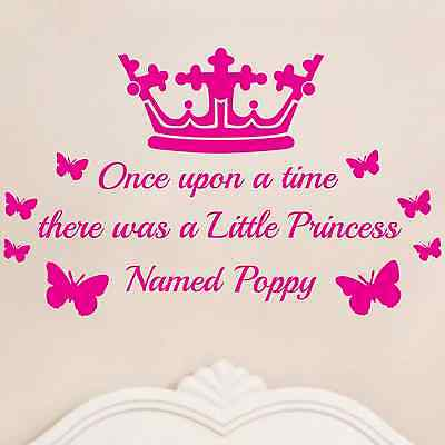 Personalised Once upon a time girls name - Vinyl wall art - bedroom sticker