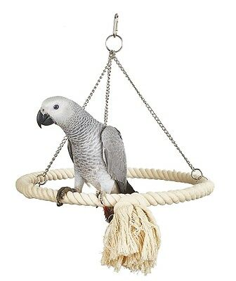 Rope Ring Parrot Toy Swing For African Greys, Amazons, Cockatoos etc 7613
