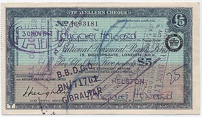 1960's UK £5 Travellers Cheque***Collectors***(3)