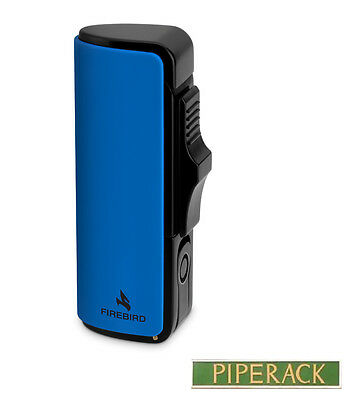 Colibri Firebird Edge Blue Triple Jet Flame Lighter With Built In Cigar Punch