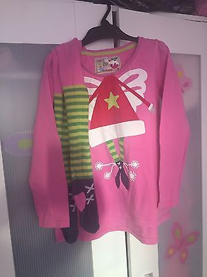 NEXT Girls Xmas Top & Tights Set AGE 5-6