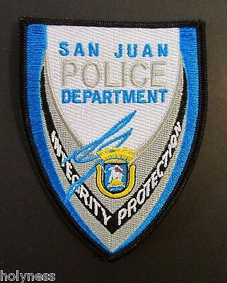 Vintage Police Patch / San Juan Police Department / S.j. Puerto Rico