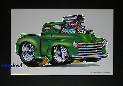 "Muscle Machines Art Print Poster 1953 Chevrolet Pickup 53 Chevy 11"" by 17"""