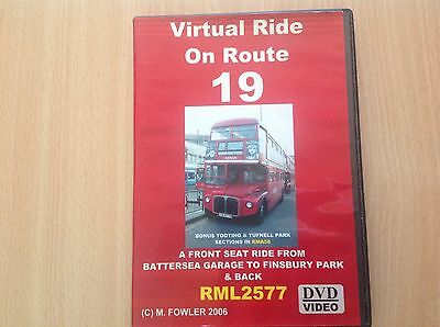 Dvd Virtual Ride On Route 19 Rml 2577 Battersea To Finsbury Park Tr4