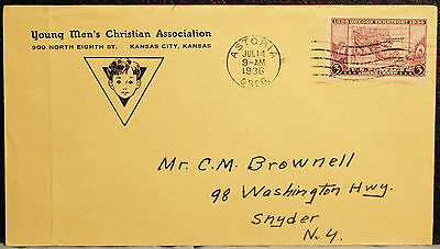 Young Mens Christian Association Kansas City 1936 Cover To Snyder New York