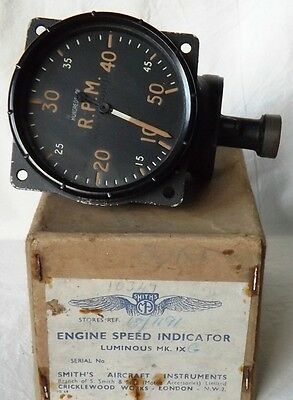 WW2 RAF Aircraft RPM Indicator Mk9G 6A/1191 – SPITFIRE, TYPHOON, etc
