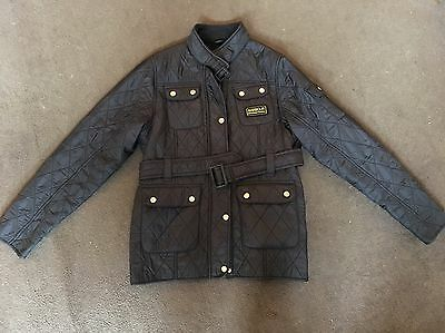 Girls Black Quilted Barbour Jacket Age 14/15