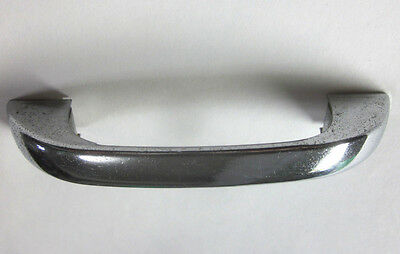 """Vintage 1 super retro chrome plated drawer pull handle smooth 4-1/4"""" 3-1/2"""" C-C"""