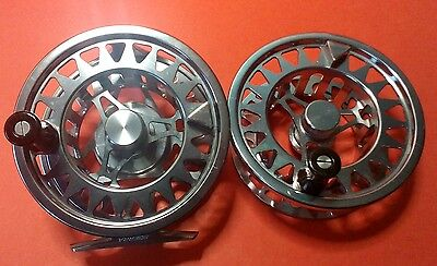 SCIERRA TRAXION 10/12 FLY REEL with SPARE SPOOL and reel covers.