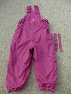 JOJO MAMAN BEBE Waterproof Fleece Lined All In One Dungarees 2-3yrs Salopettes