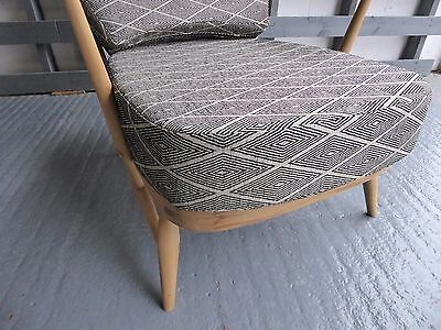 Seat Cushion & Cover Only. Ercol 203/252 Chair. Trending Diamond Grey 2