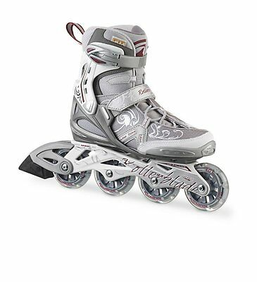 Rollerblade Spark Comp W Silver/Red Womens Inline Skates UK 5.5