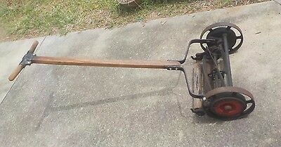 Antique Push Mower GREAT AMERICAN BALL BEARING Pat 1918 Great working condition