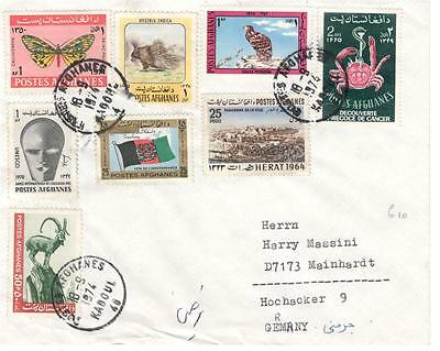 a15 Afghanistan  cover to Germany 18-9-74