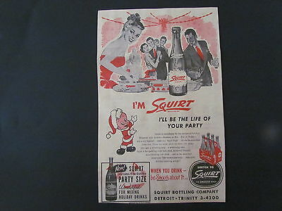 1954 Newspaper Print Ad/Clipping SQUIRT - Soda, Pop, Holiday Drinks
