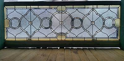Large Victorian Stained Glass Transom Window 28 By 68
