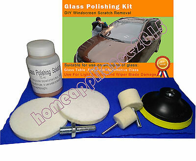 Glass Polishing Kit,  Windscreen Scratch Remover ,70 ml Solution + 3'' Pad