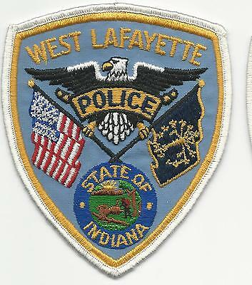 West Lafayette Police In Indiana cheese cloth back