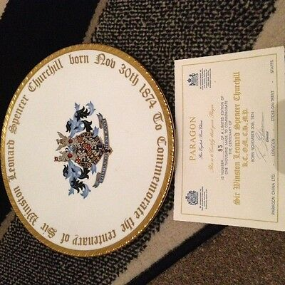 1974 Paragon Winston Churchill commemorative plate, limited ed 85 of 1000