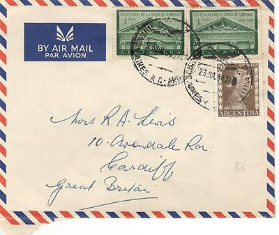 a32 Argentina Airmail cover to GB 23Jul22