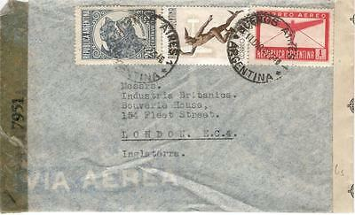 a33 Argentina Airmail cover to England