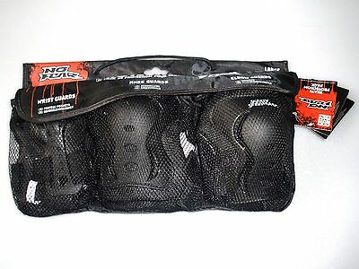 New No Fear Skate Protection Pack Size M Wrist Knee Elbow Guards Accessories