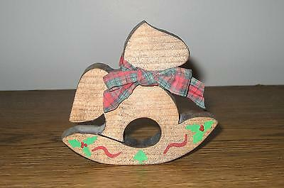 Cute Handmade And Painted Wooden Christmas Rocking Horse