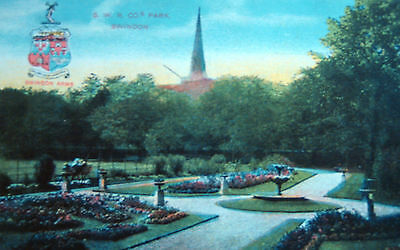 Nice Old Postcard - G.w.r Park ,swindon ,wiltshire