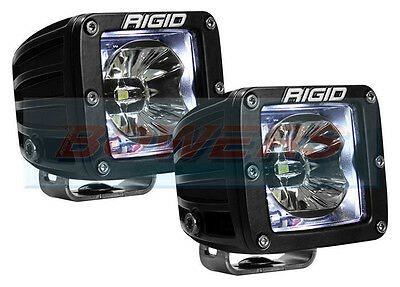 "Pair Of Rigid Industries Radiance 20200 12V 3"" Led Pods With White Back Lighting"